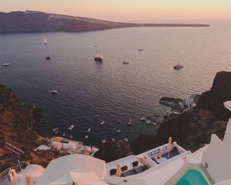 Sunset at the Caldera from our private balcony!