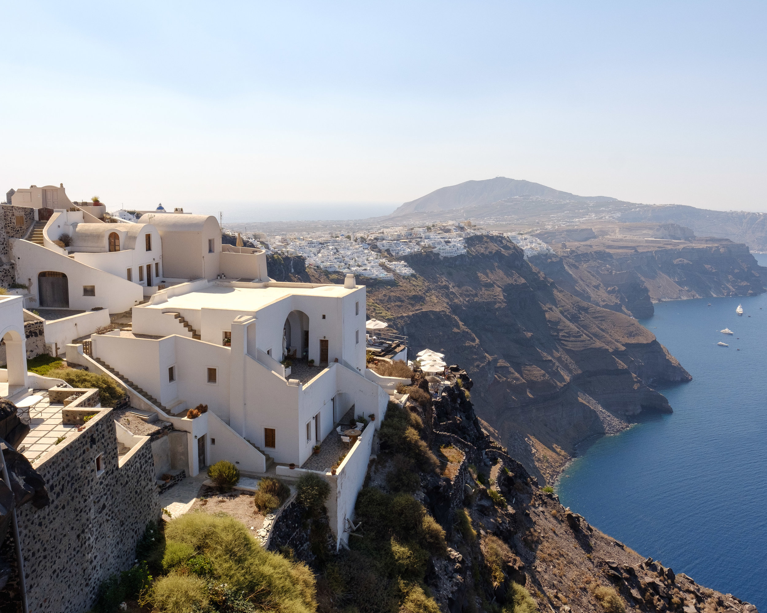 Looking back at Fira from a little further up the hike.