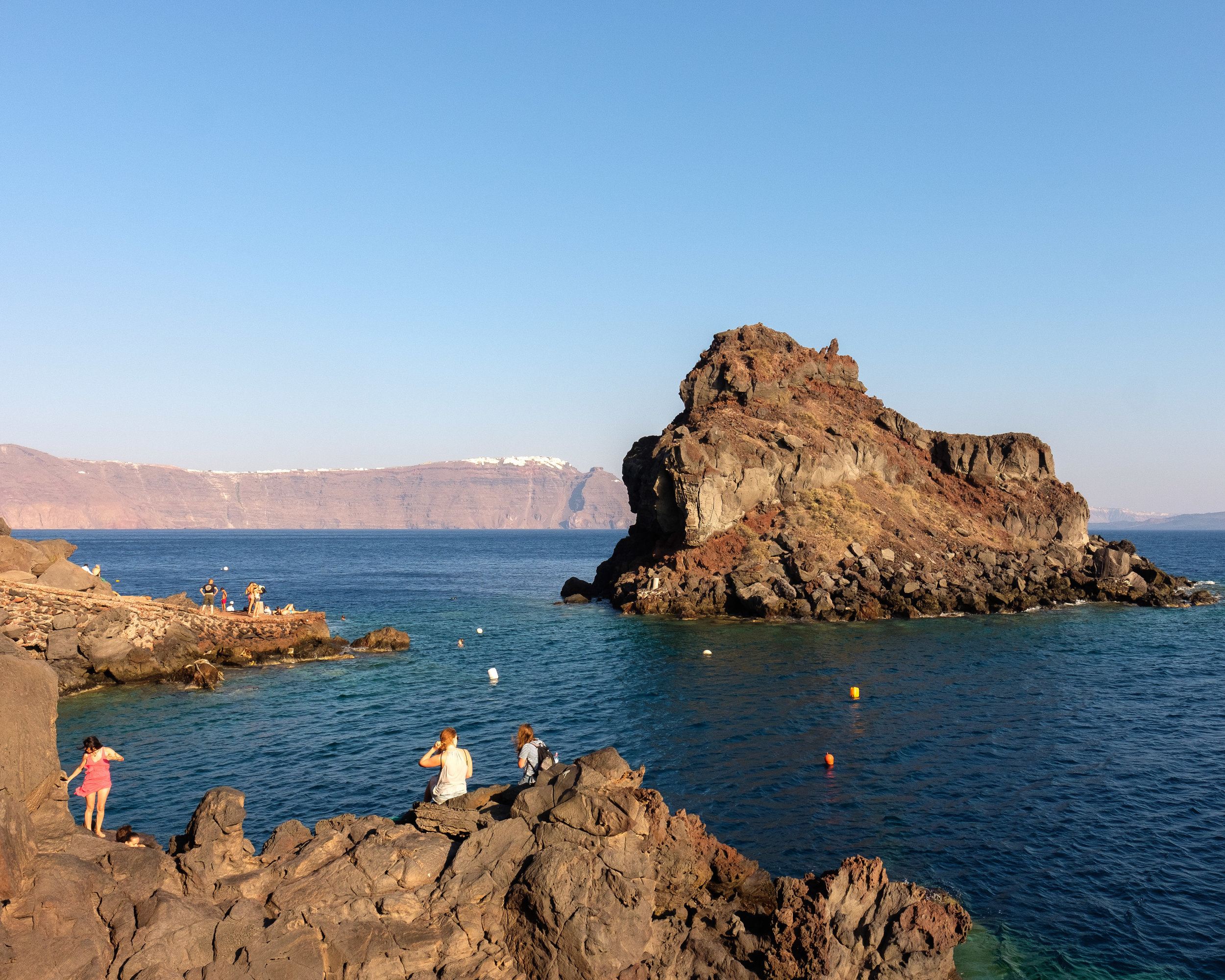 """The view of the """"private"""" Ammoudi Beach"""