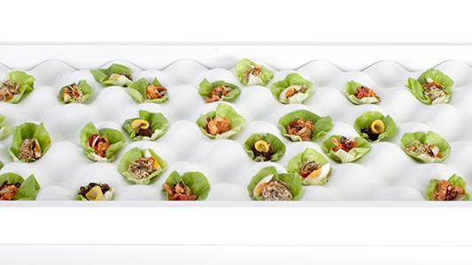 FABULOUS FINGER FOOD: ceaser salads egg tray