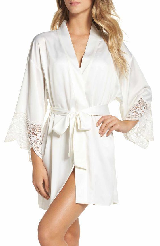 Nordstrom - Flora Nikrooz Silk Kimono Robe ($88)