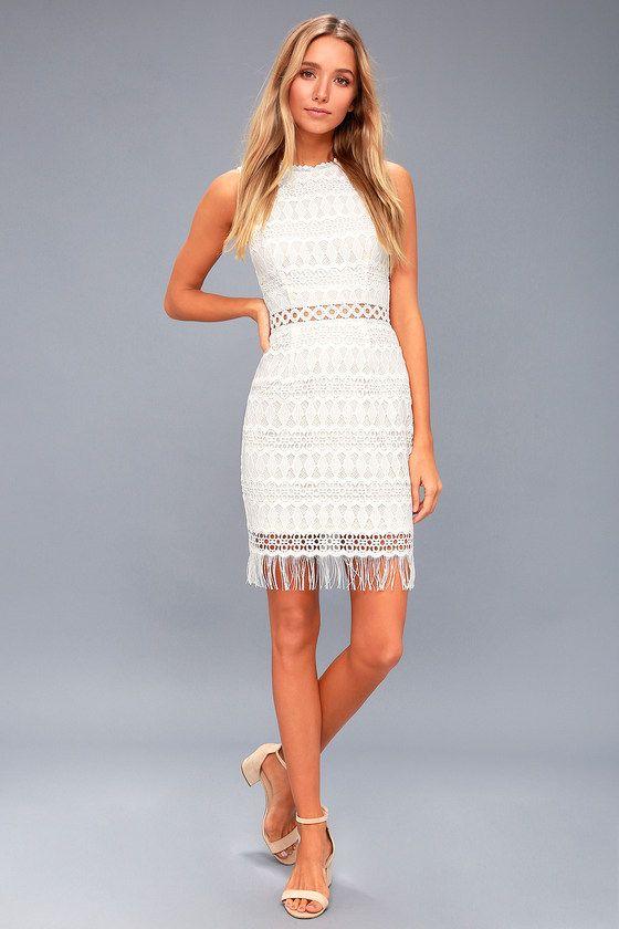 Lulus - Kenna White Crochet Dress ($66)