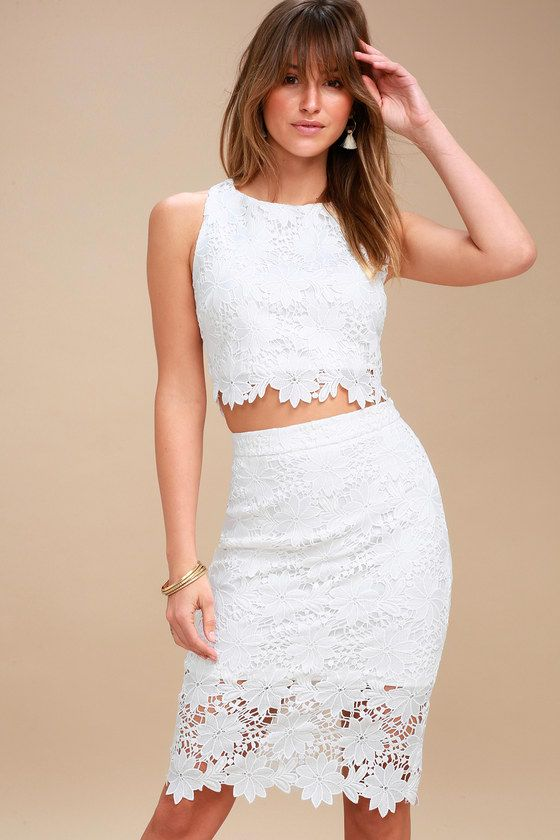 Lulus - Look at Me Wow Lace Two Piece ($66)