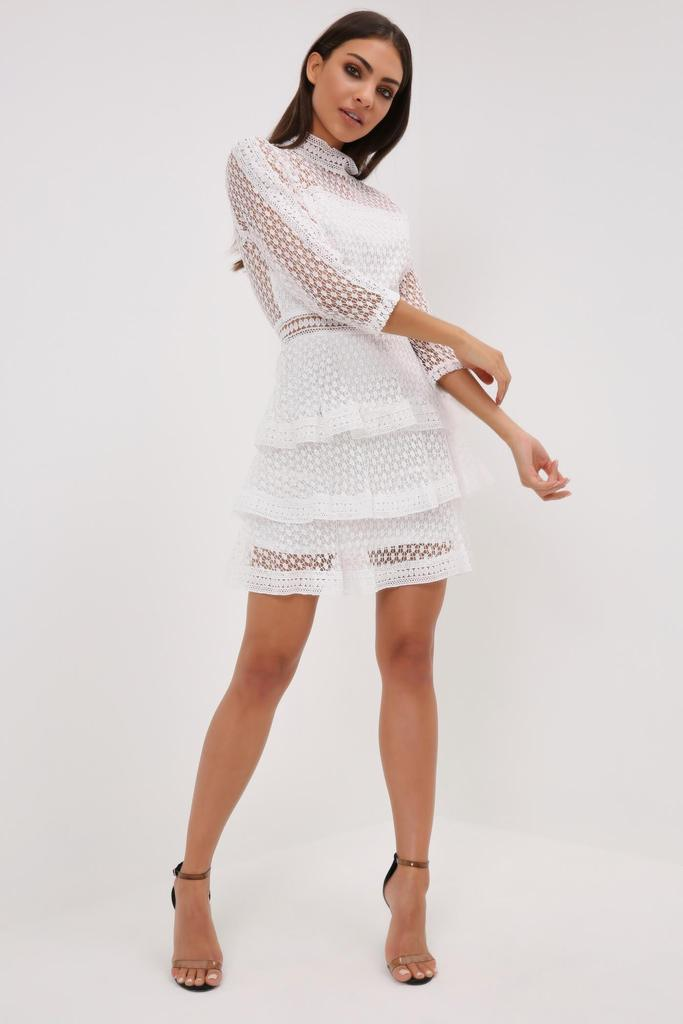I Saw It First - White High Neck Crochet ($36) This is from a European company so check the size chart!