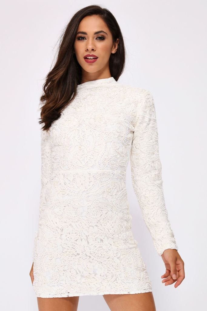 I Saw It First - Beaded Lace Cream Dress ($13 - limited sizes)This is from a European company so check the size chart!