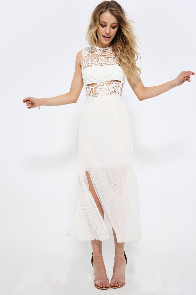 I Saw It First - White Lace Front Maxi ($38 limited sizes)This is from a European company so check the size chart!