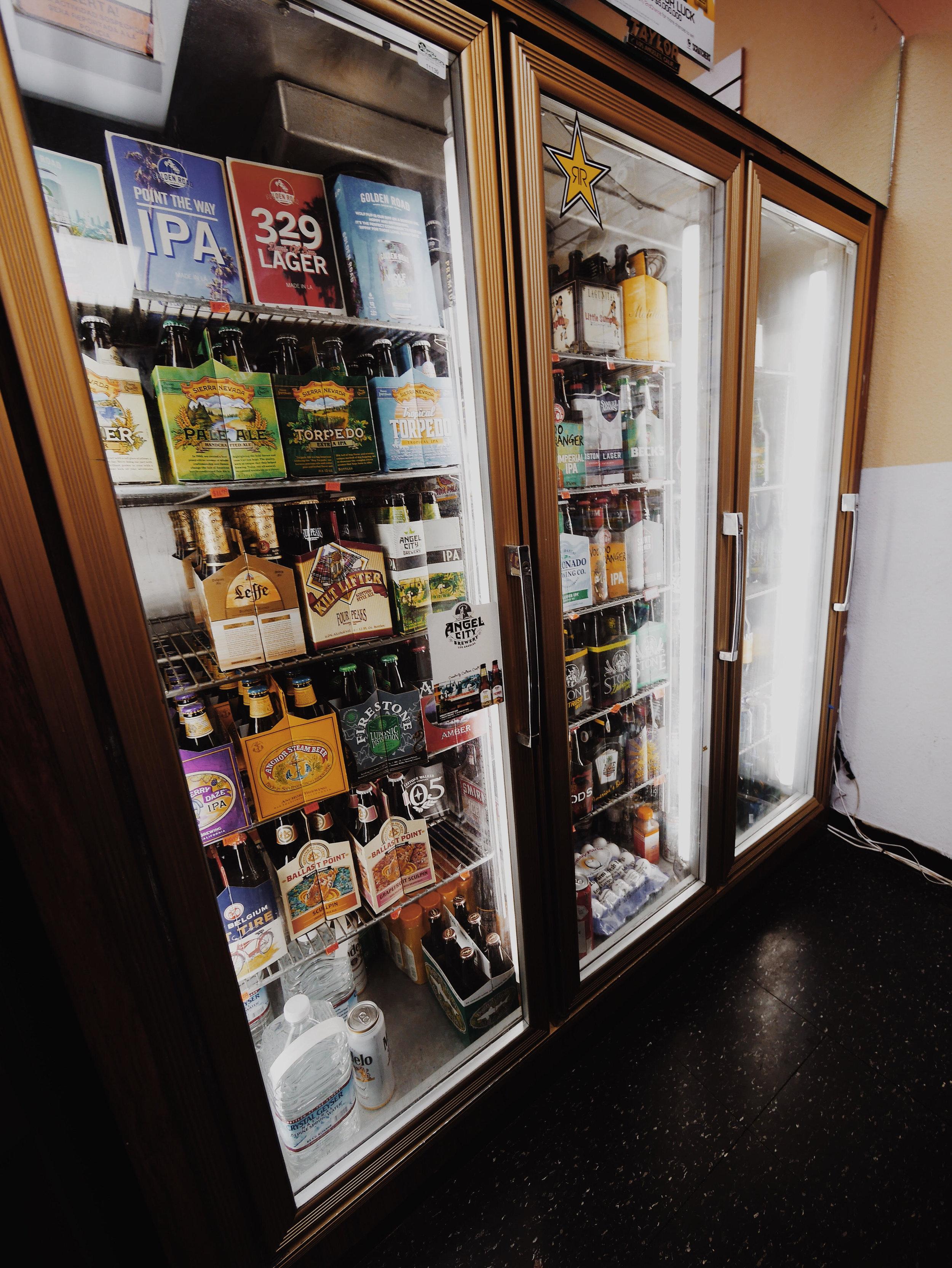 Beer Fridge in Echo Park