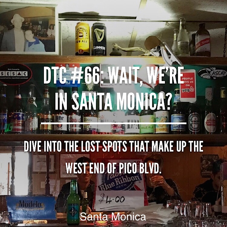 Hit up The Speak Easy a 60 year old dive bar before having a New York slice at Milo SRO, finally end with live tunes at Trip Santa Monica