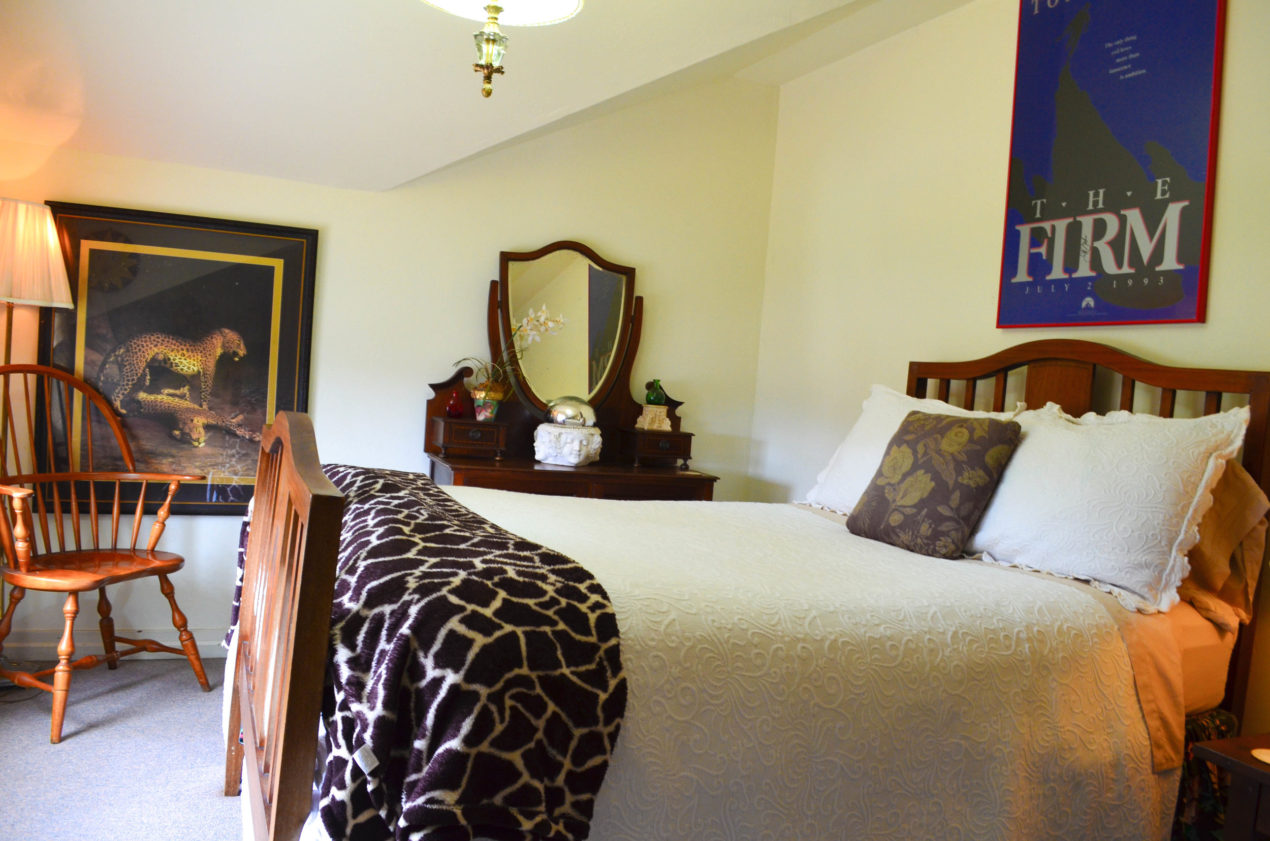 the bedroom in the Carriage House at B. Bryan Perserve in Point Arena, CA