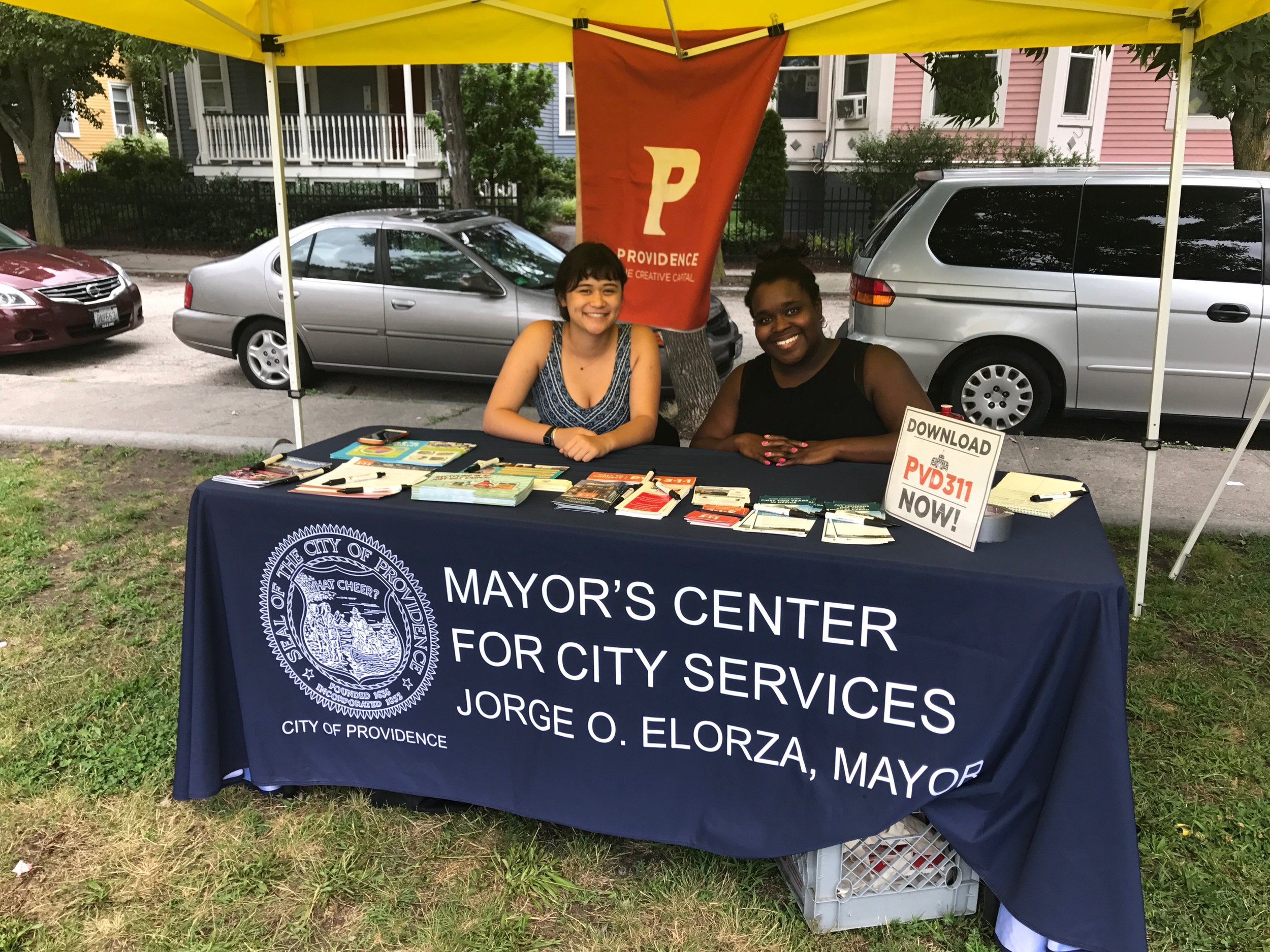 part of my work included direct constituent outreach at local events, such as the  Sankofa Farmer's Market
