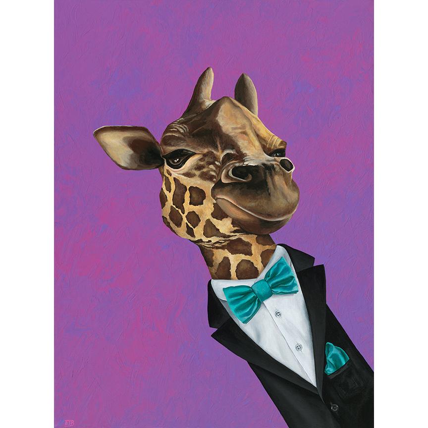 "Dapper Giraffe   / 18""x24"" / 2016 / acrylic on canvas -  SOLD"
