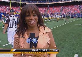 Sports announcer Pam Oliver -