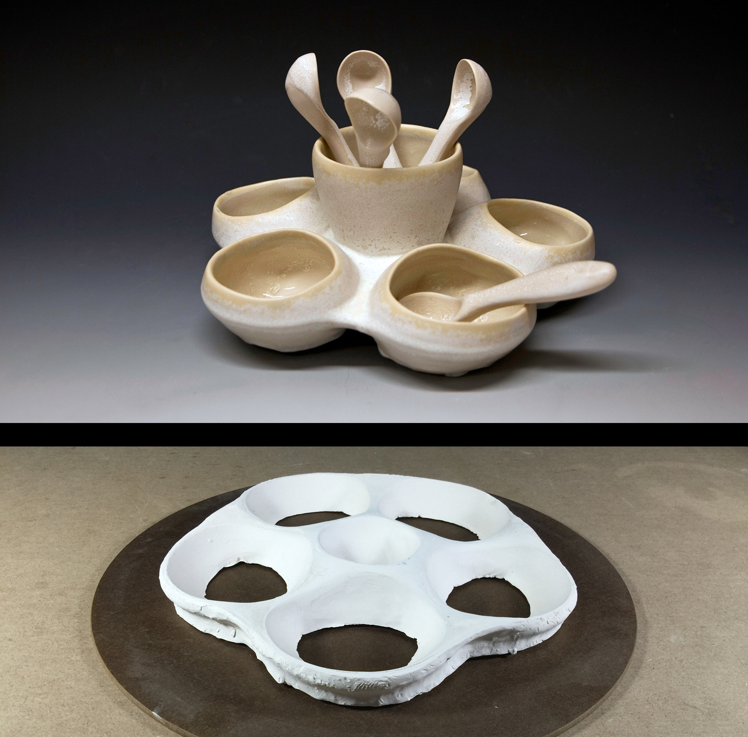 Bump mold used to create a more complex form.