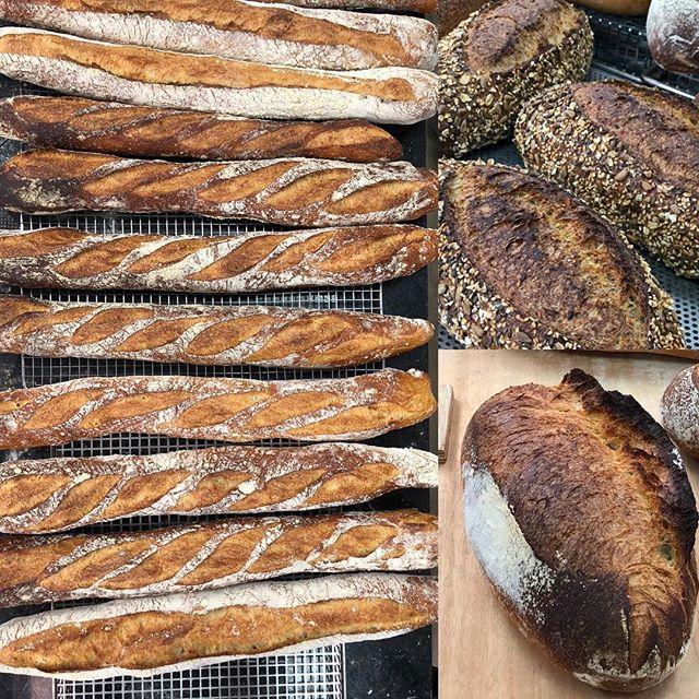 Masas rústicas 18 horas de fermentación en bloque (frío positivo) harinas locales #pastry #bakerylab2018 #bakers