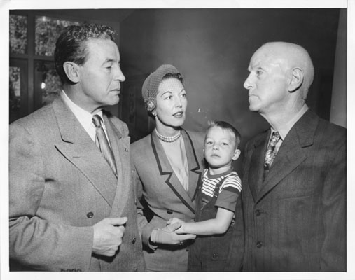 With her husband and son, from  Found SF.