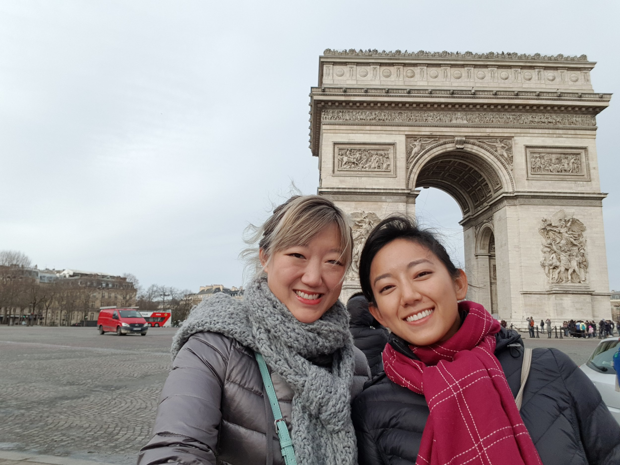 Arc de Triomphe & the Champs-Élysées in the not as early as every other morning morning!
