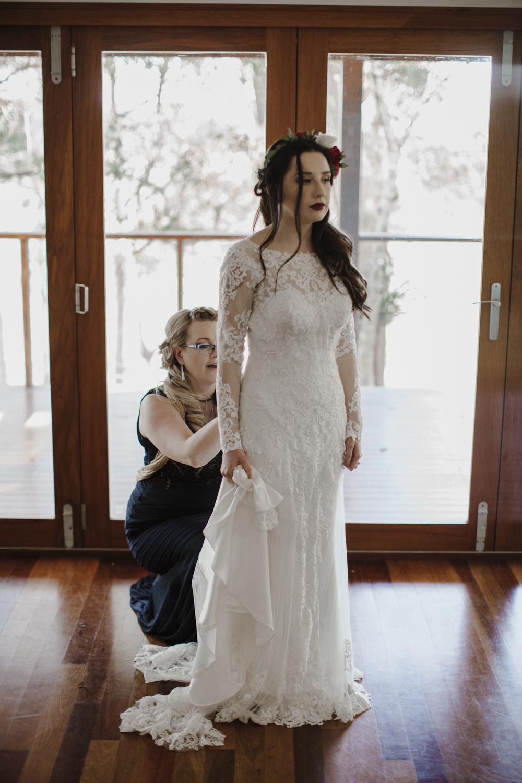 Bride at Yandina Station