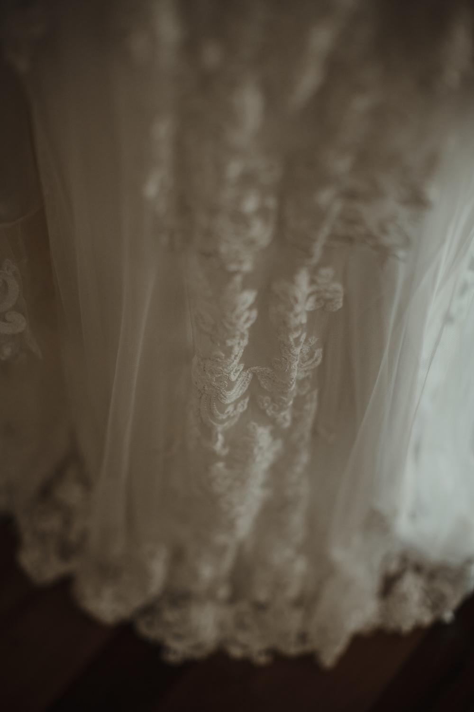 wedding dress  details at yandina Station