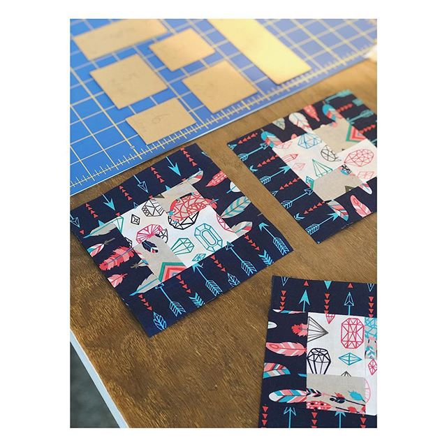 This is another students work, she wanted to make a set of quilted coasters so we have been working on these the last couple of lessons. Hasn't she done a great job!