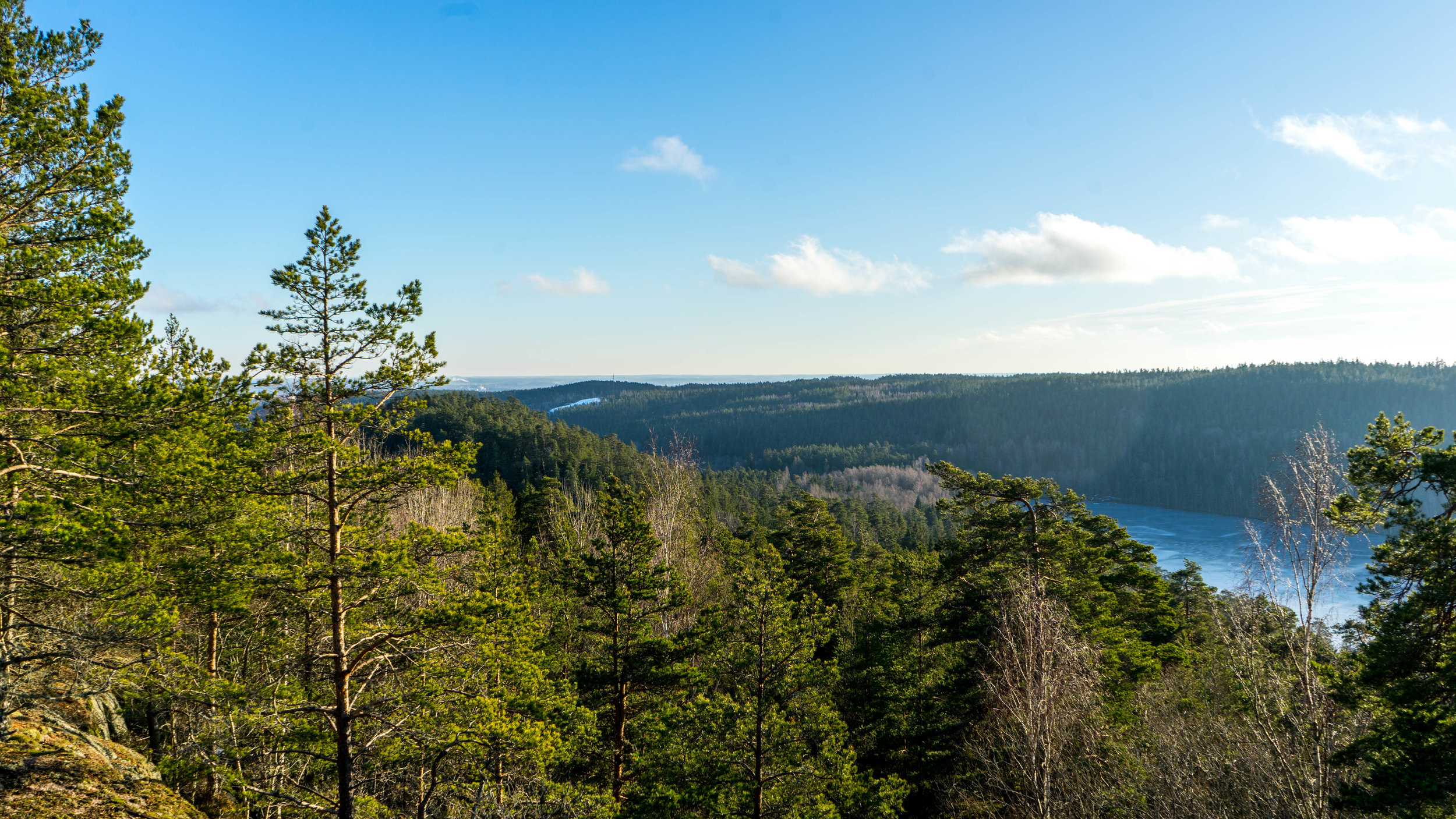 Fotot är taget vid Norrköpings högst punkt 171 meter över havet. Foto: Andreas Niva