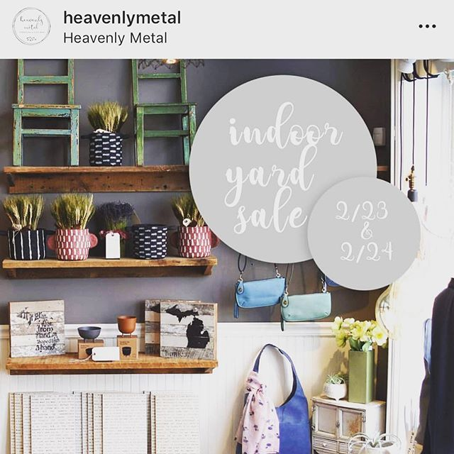 Head to @heavenlymetal on 4th Ave in Ann Arbor for their indoor yard sale and pick up some Aromatherapy necklaces in Rose Quartz and Amethyst today and tomorrow!