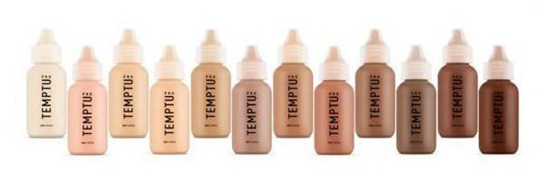 Temptu S/B  - silicone based with a semi-dewy and glowing finish.
