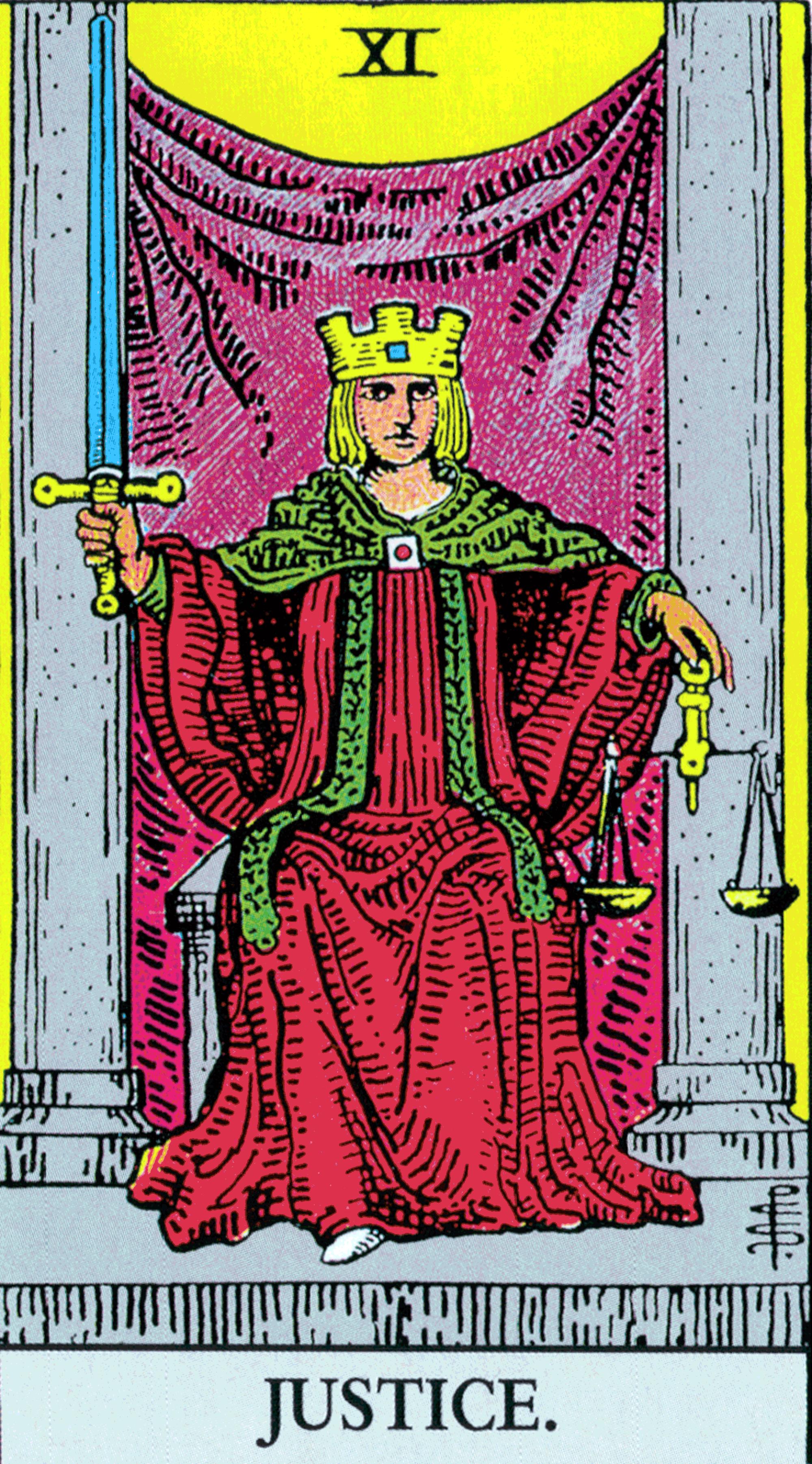 11 Justice Tarot