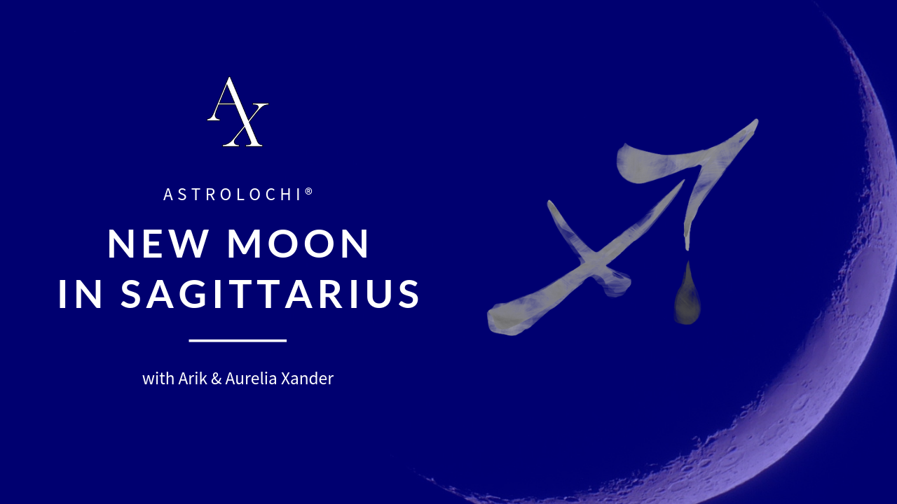 NEW MOON @ 15° SAGITTARIUS DEC. 7, 2018, 07:21 AM UTC