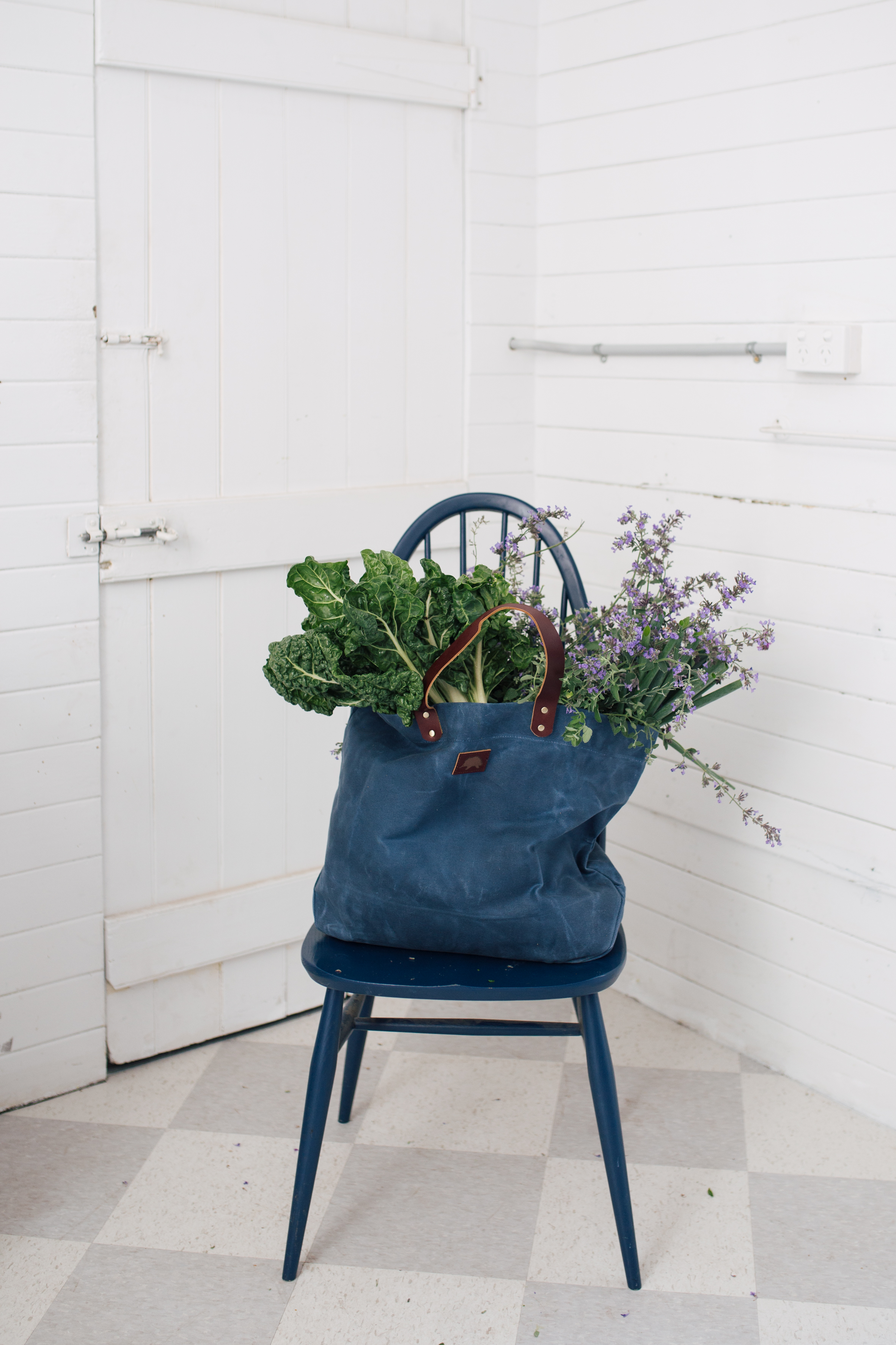 Large Waxed Canvas Bags - Little Echidna - $120