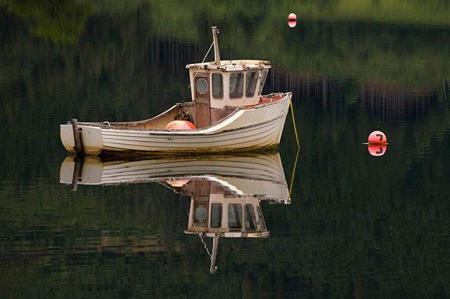 Sea Loch reflections. Loch Leven.