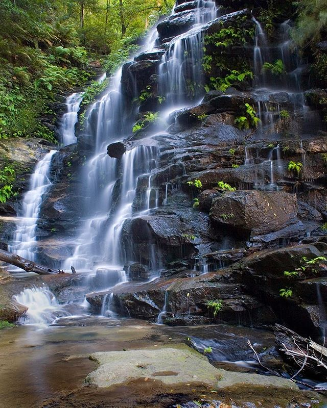 The beautiful Sylvia Falls in the Blue Mountains, Australia.