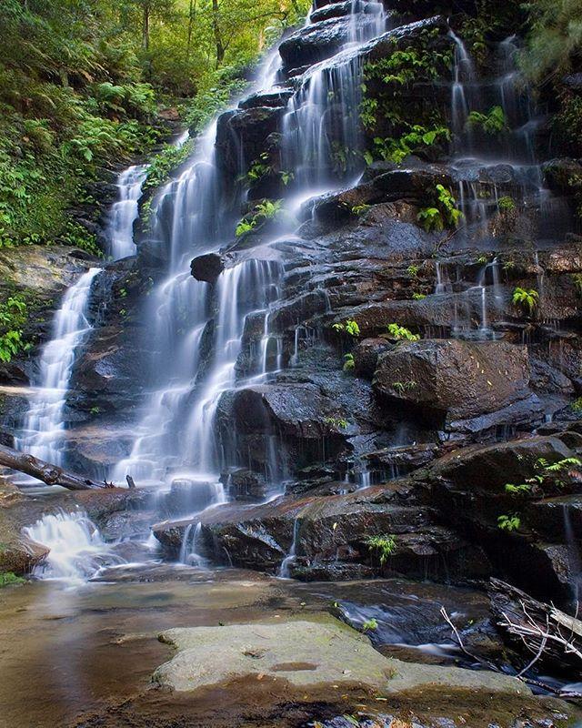 The beautiful Sylvia Falls in the Blue Mountains, Australia.
