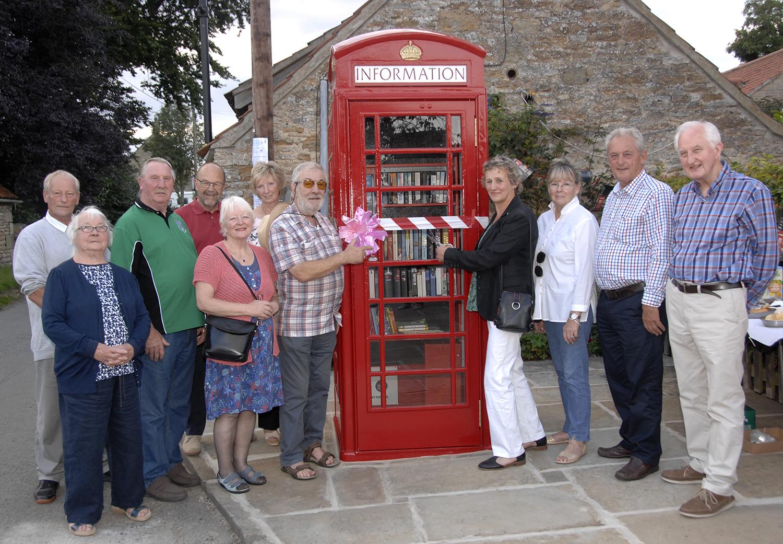 Old village phonebox lovingly restored
