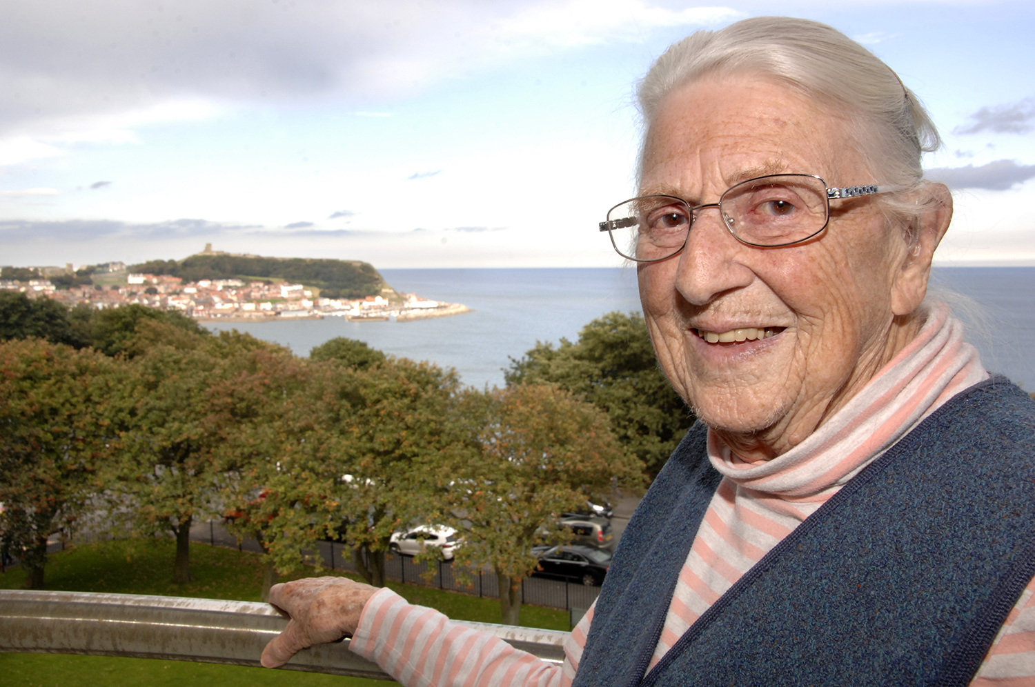 Joyce Bell has a great view from her Esplanade flat