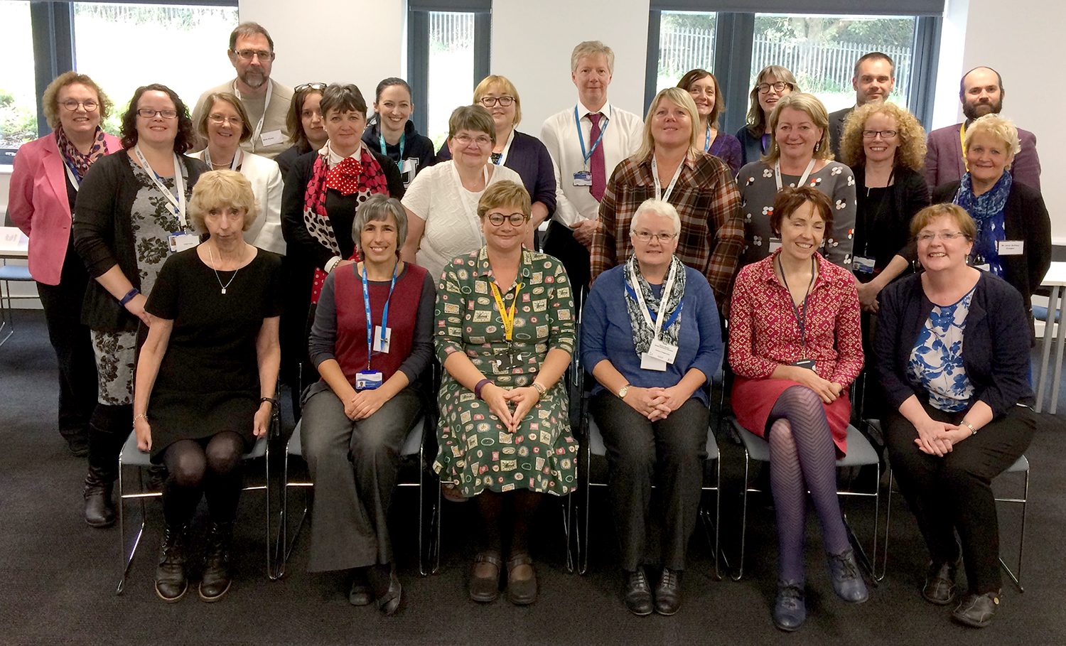 Emily Harrison, head of adult nursing at the Scarborough campus (front row, third left) with the university and Nursing and Midwifery Council approval panel