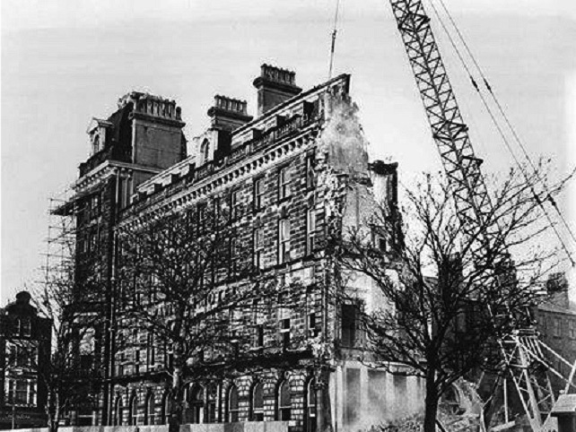 The hotel is demolished