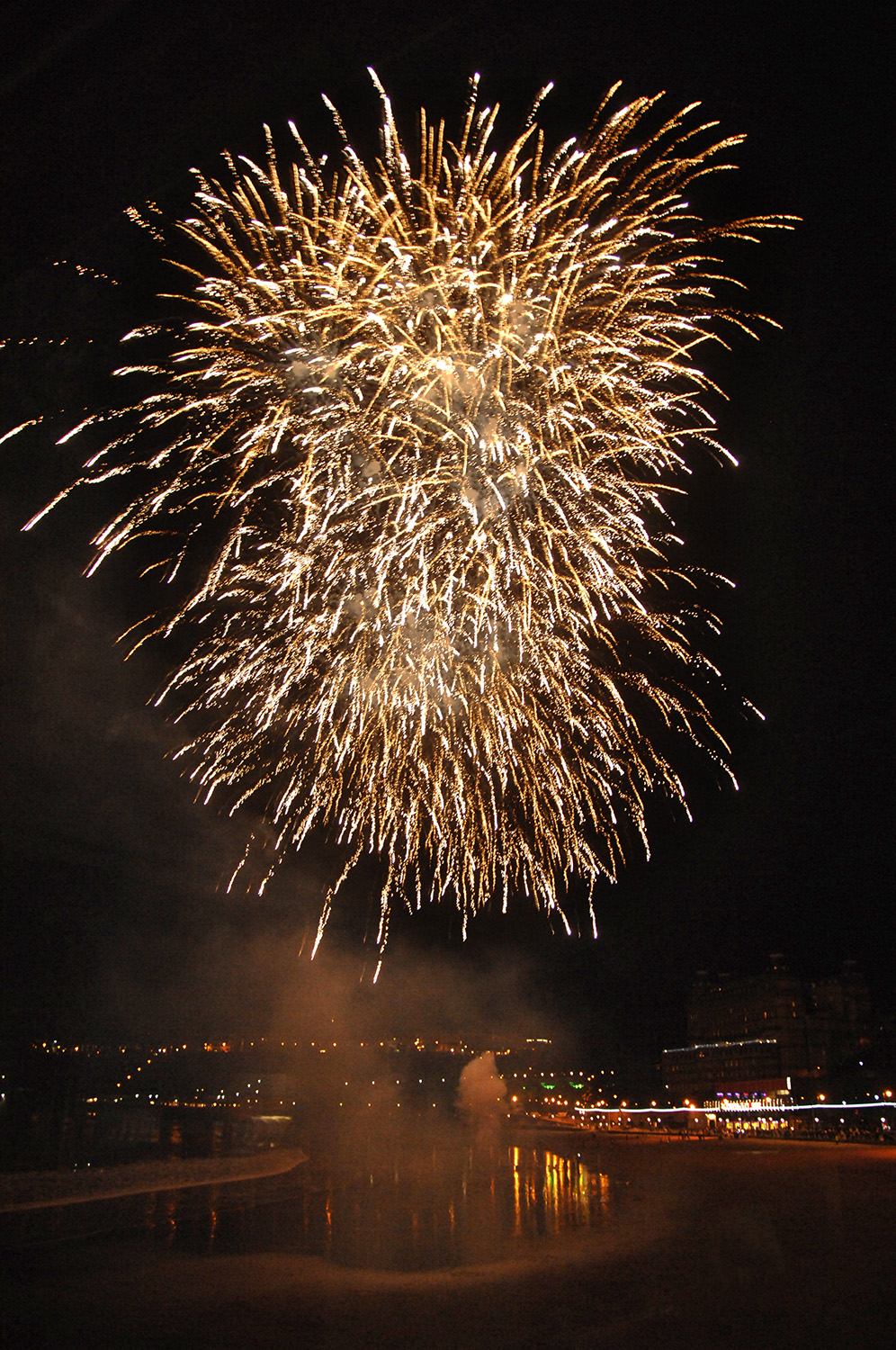 Fireworks over the south bay