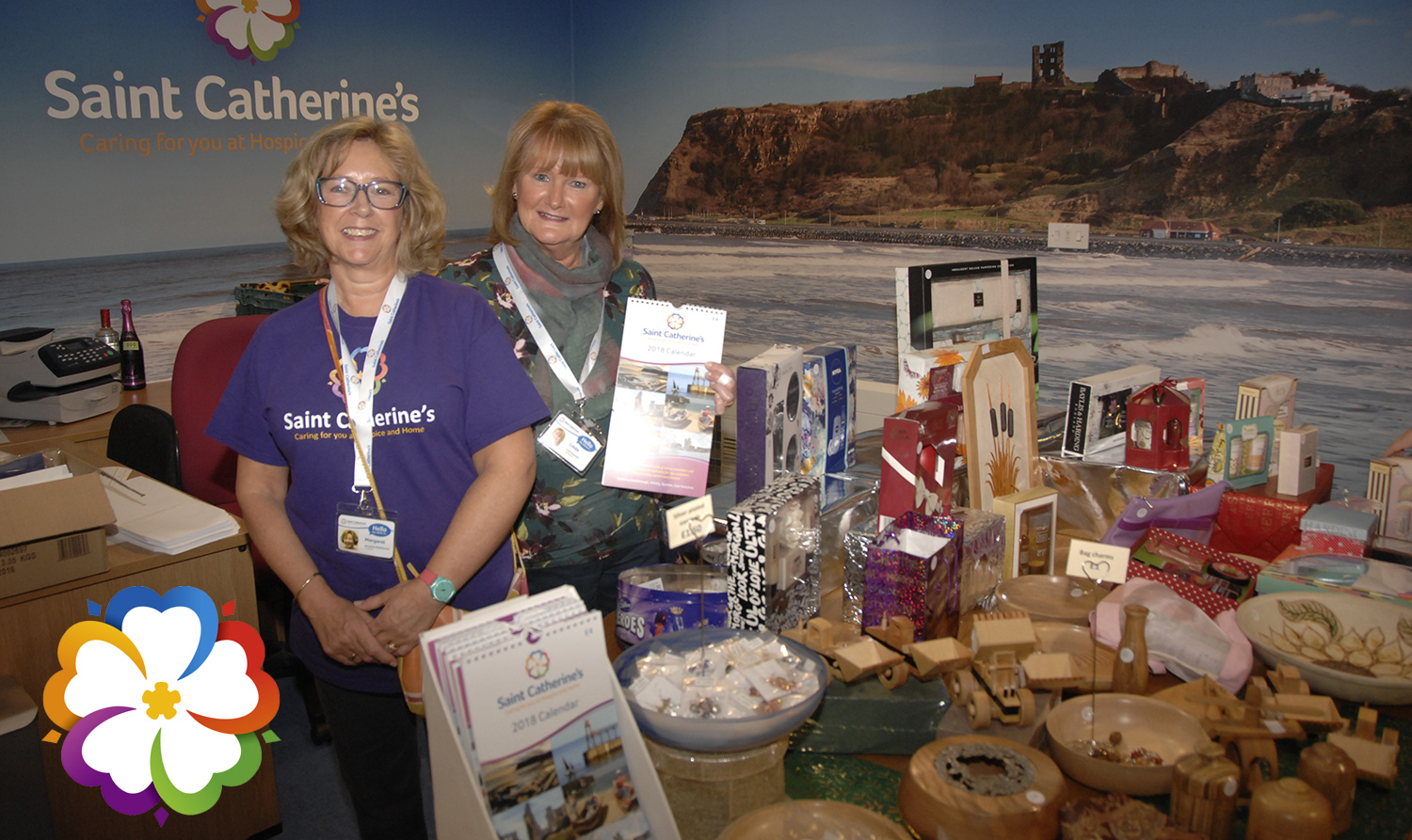 Volunteers Margaret Middlebrook, left, and Linda Swalwell at the Christmas fair (to order ring 353597)