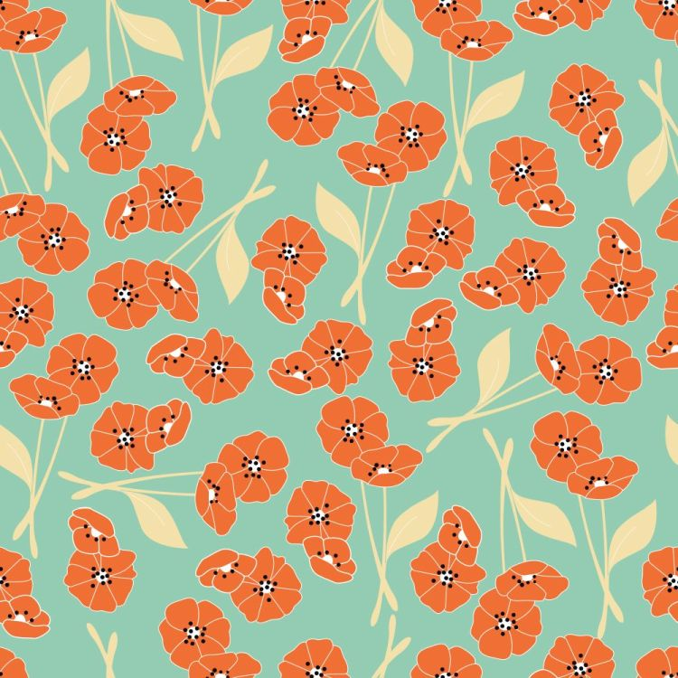 Seamless pattern with flowers and floral elements, nature life