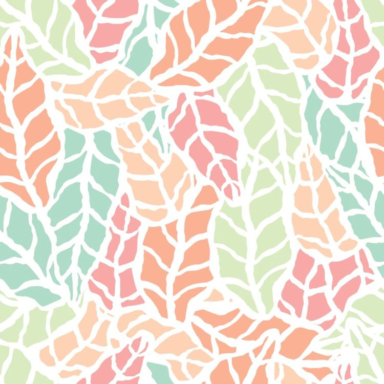 Seamless pattern with hand drawn natural leaves