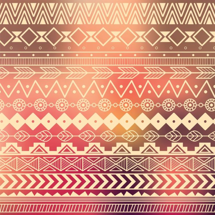 Aztec tribal pattern in stripes