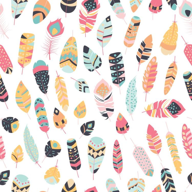 Seamless pattern with boho vintage tribal ethnic colorful vibran