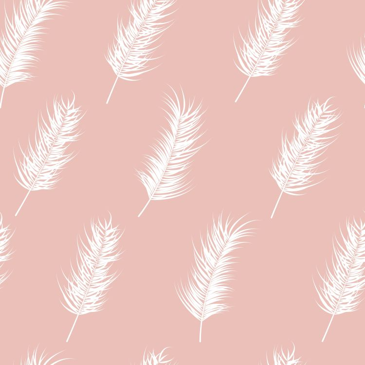 Seamless pattern with tropical leaves on pink background