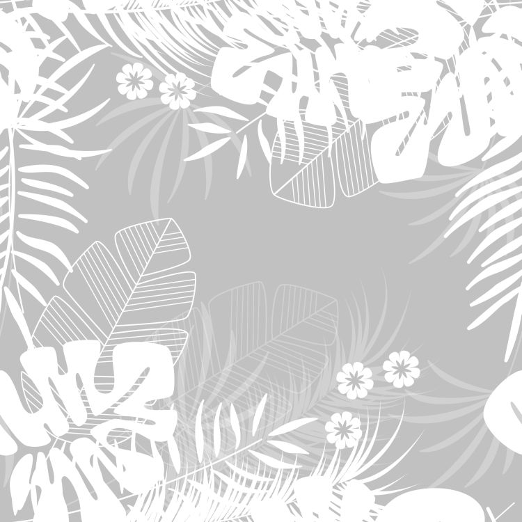 Summer seamless tropical pattern with monstera palm leaves and p