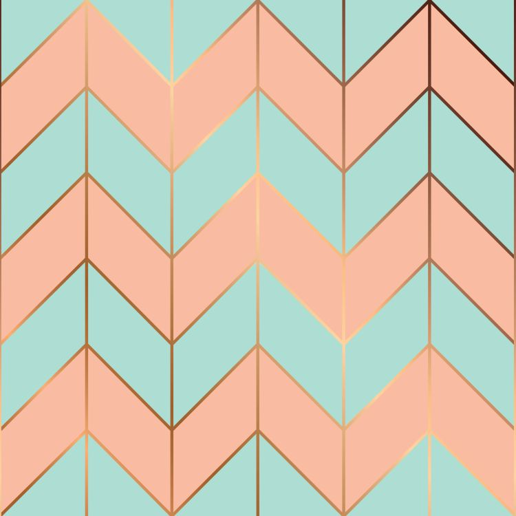 Vector seamless pattern design with golden geometric lines, mode