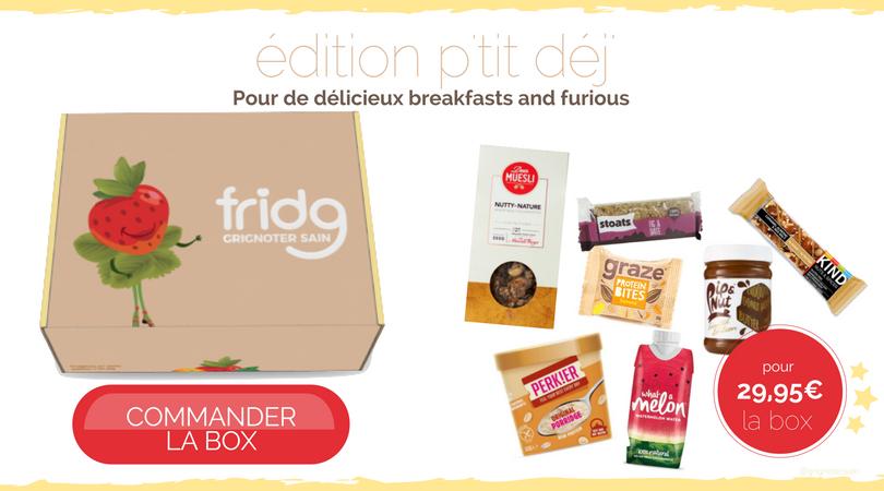 fridg-fridgbox snacks p'tit déj #breakfast