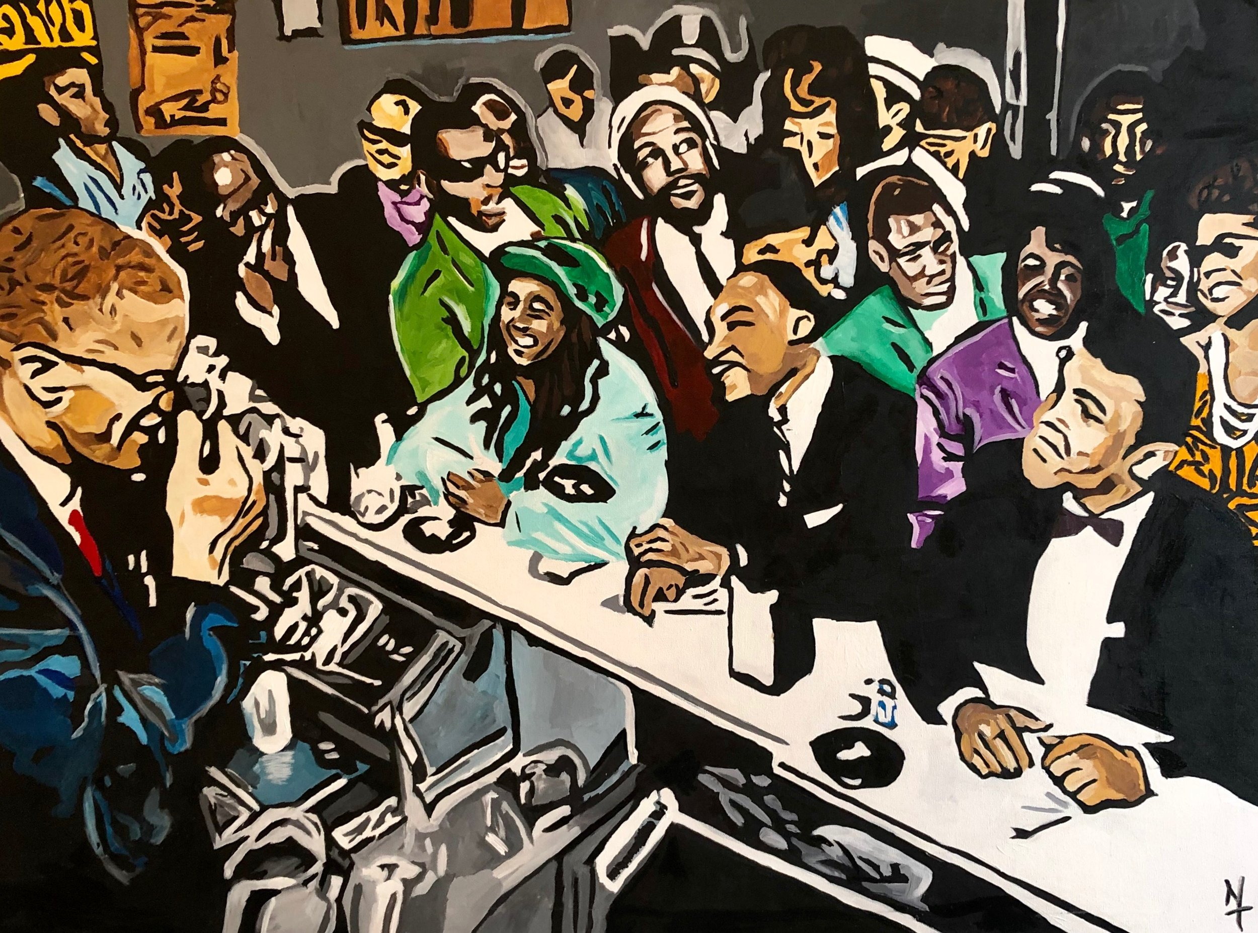 lunchtime in heaven - Nai Turner36x48Acrylic PaintA ONE OF ONE PIECE. CERTIFICATE OF AUTHENTICATION PROVIDED.Contact Artist To Purchase