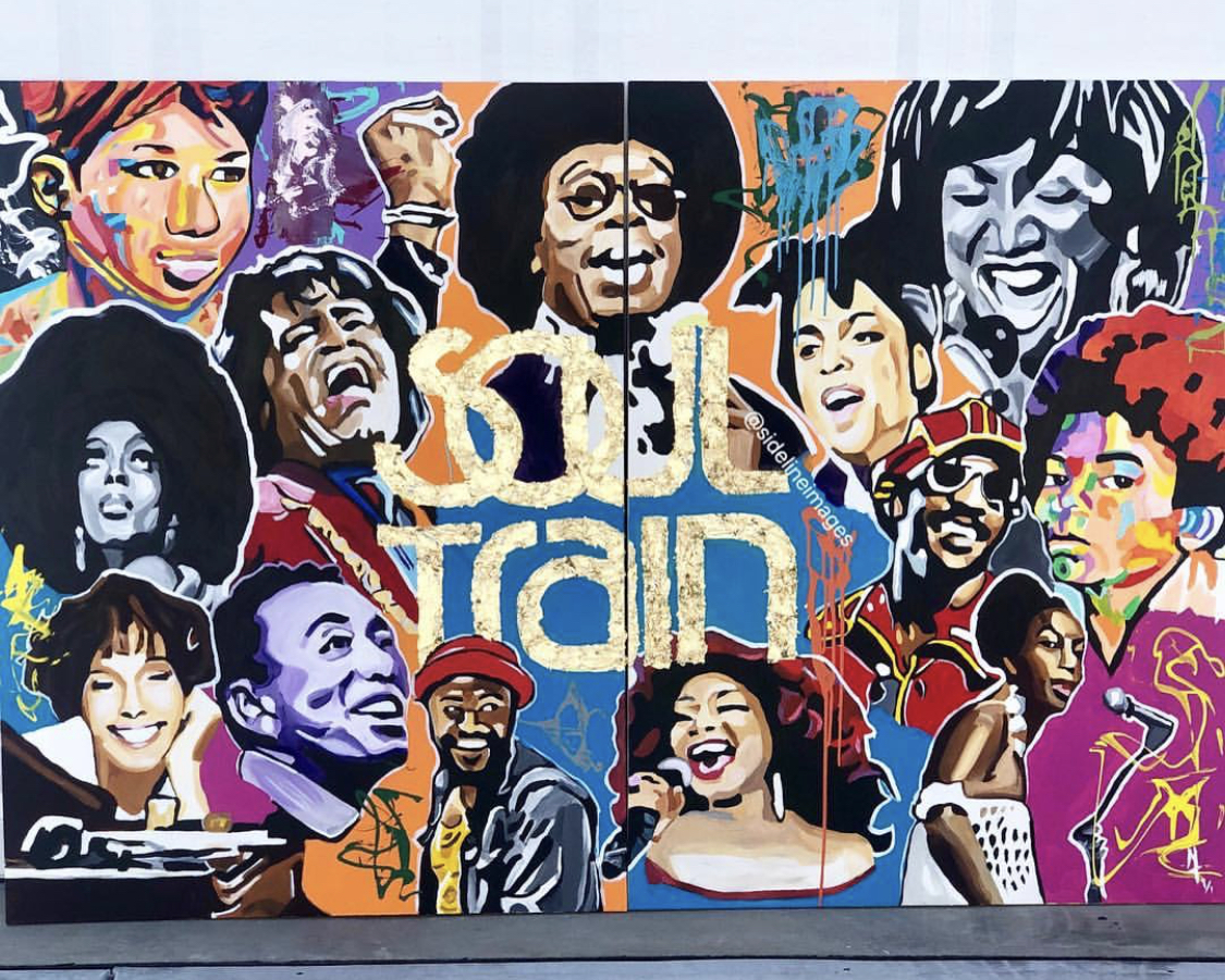 SOUL TRAIN - Nai Turner36x48Acrylic PaintA ONE OF ONE PIECE. CERTIFICATE OF AUTHENTICATION PROVIDED.Contact Artist To Purchase