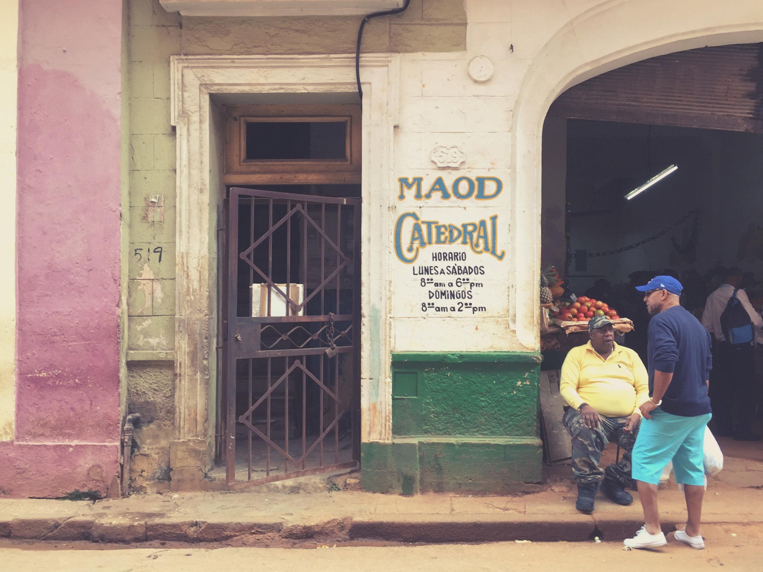 One of the many markets of Havana