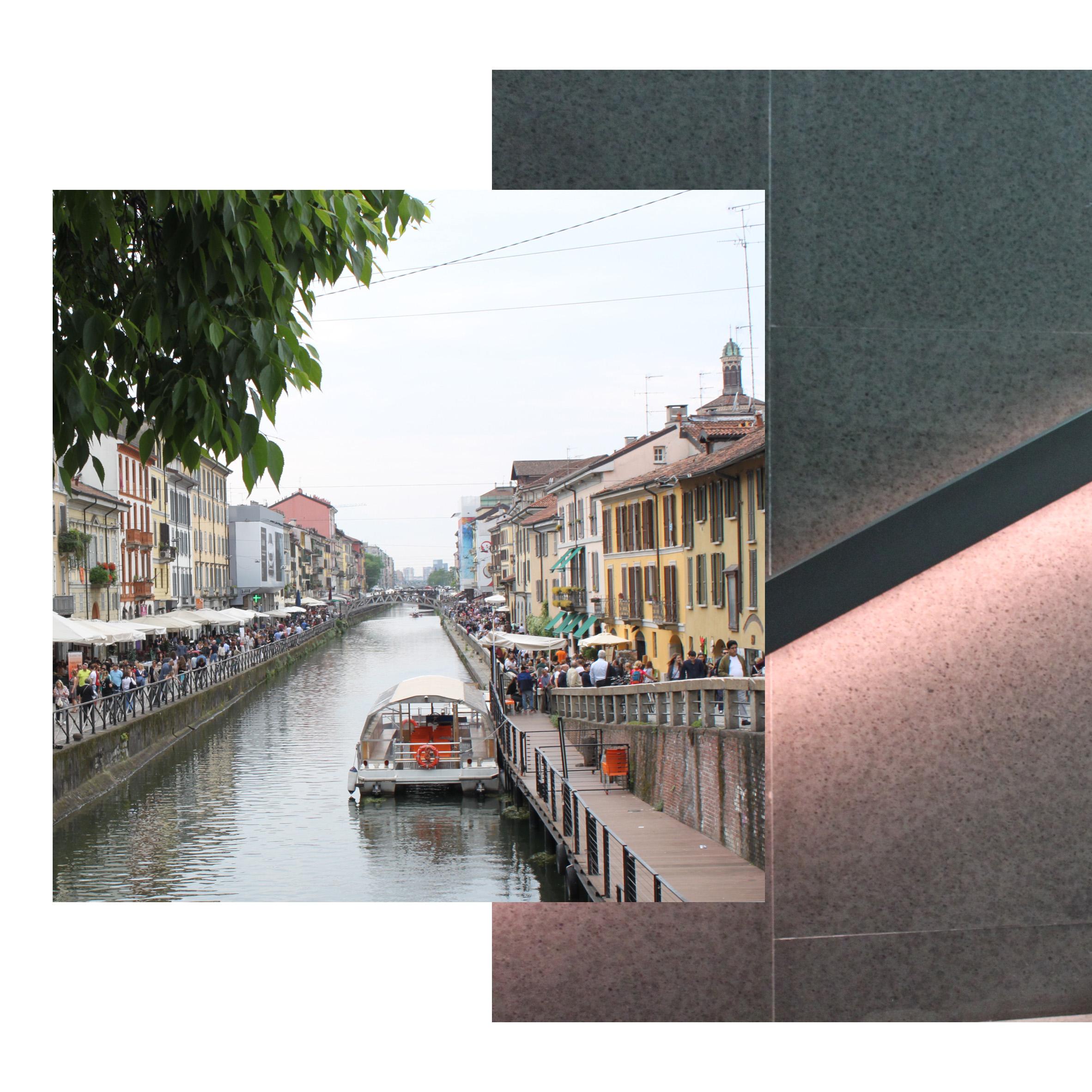 The vibrant Navigli area in Milan